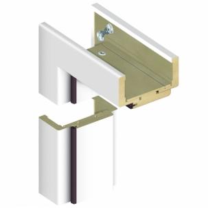 Adjustable door frame INVADO D80 120/139 , white (B134) with rims Veneered doors