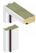 Adjustable door frame INVADO D80 44/90, white (B134) with rims Veneered doors