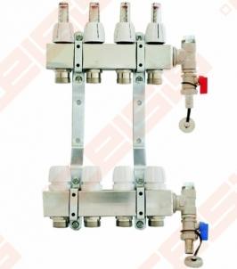 Reguliuojamas su debitomačiais kolektorius CAPRICORN nerūdijančio plieno 4 žiedų Adjustable panels