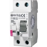 Relė nuotėkio, 2P, 25A, 30mA, 10kA, EFI-2, ETI 02062122 Dc leakage relay