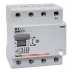 Relė nuotėkio, 4P, 63A, 30mA, FL, Legrand 602195 Dc leakage relay