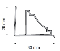 REMAS SIENAI BALTAS B4 2,7m VNT Facade planks fittings (pvc, fiberboard, wood)