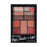 Revlon Eyes, Cheeks + Lips Palette Cosmetic 15,64g Shade 100 Romantic Nudes Šešėliai akims