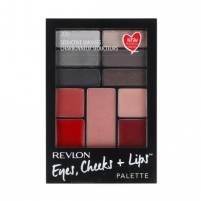 Revlon Eyes, Cheeks + Lips Palette Cosmetic 15,64g Shade 200 Seductive Smokies Šešėliai akims