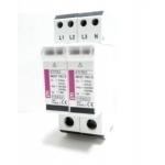 Ribotuvas viršįtampių, modulinis, B+C klasės, 5/20kA, 2mod., 4P, ETITEC-WENT, ETI 02441804