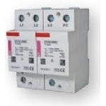 Ribotuvas viršįtampių, modulinis, B+C klasės, 5/50kA, 4mod., 4P, ETITEC-WENT, ETI 02441800