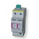 Ribotuvas viršįtampių, modulinis, C klasės, 550/20, 3mod., 2P, DC grandinėms, ETITEC C-PV, ETI 02445207 Citi reed relays
