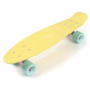 Riedlentė Skateboard Meteor geltona/mėtinė/rožinė