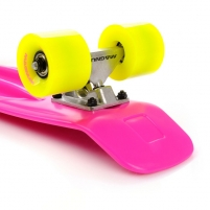 Riedlentė Skateboard Meteor Magnum neon rožinė/geltona/sidabrinė