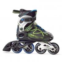 Riedučiai Fila Wizy black/lime/lghtblue/F17 L38 Roller skates