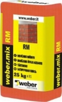 Grouting mix weber.mix RM 52LT, dark grey 25 kg Masonry mortars