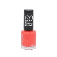 Rimmel London 60 Seconds Super Shine Nail Polish Cosmetic 8ml 415 Instyle Coral Dekoratyvinė kosmetika nagams