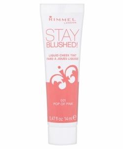 Rimmel London Stay Blushed Liquid Cheek Tint Cosmetic 14ml 003 Peach Flush Skaistalai veidui