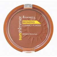 Rimmel London Sun Shimmer Bronzing Compact Powder 11g Medium Matte Pudra veidui