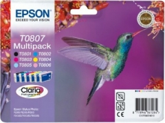 Rinkinys Epson T0807 C/M/Y/K/LC/LM MultiPack CLARIA | Stylus Photo R265/285/360.