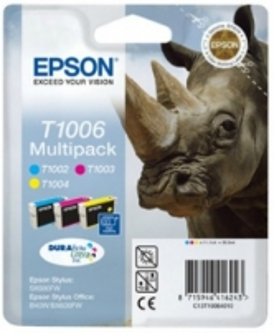 Rinkinys Epson T100 CMY MultiPack DURABrite Ultra BLISTER | 3x11.1ml | Epson St.