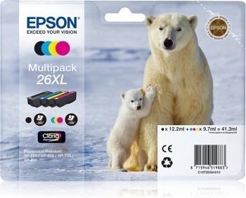 Rinkinys Epson T2636 XL CMYK Claria Multi Pack   XP-600/700/800