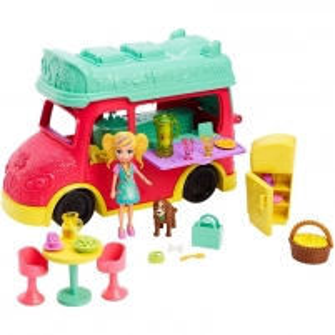 Rinkinys GDM20 Polly Pocket®Swirlin Smoothie Truck