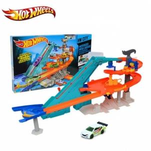 Rinkinys Moto garažas Hot Wheels BGJ18 Auto racing dziesmas bērniem
