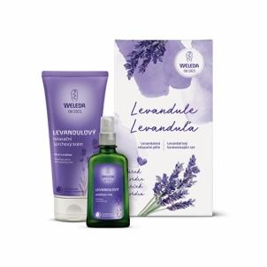 Rinkinys Weleda Levandula dušo žele 200 ml + aliejus 100 ml Kvepalų ir kosmetikos rinkiniai