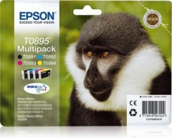 RinkinysEpson T0895 CMYK MultiPack DURABrite | Stylus SX100