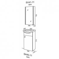 Riva veidrodinė spintelė SV 41-11 Vannas istabas skapīšus