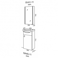 Riva veidrodinė spintelė SV 41-11 Bathroom cabinets