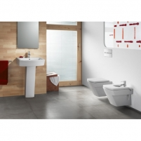 Roca Hall hanging toilet with slow close cover Lavatory closets