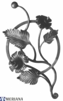 Rozetė 480x250 (gėlė), L03RZ023 Kalviškos rozetės