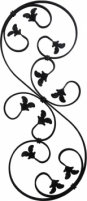 Rozetė 860x350 (12*6) A1, L03RZ088 Kalviškos rozetės