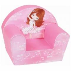 Rožinis minkštas foteliukas Balerina Foteliai, sėdmaišiai vaikams