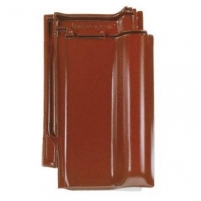 Rubin 13V, clay roof tile, maroon quartz engobed Ceramic tiles