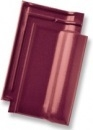 Rubin 13V, clay roof tile, dark red quartz engobed Ceramic tiles