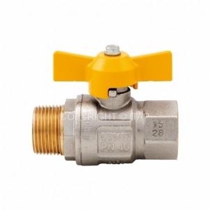 Rutulinis ventilis LONDON dujoms, d 3/4'', vidus-išorė, trumpa rankena Rutuliniai ventiliai dujoms