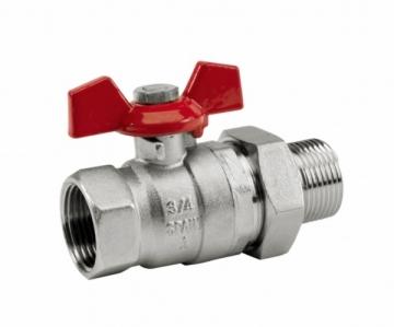 "Rutulinis ventilis su antgaliu d20 (3/4"") SENA Rutliniai valves, brass"