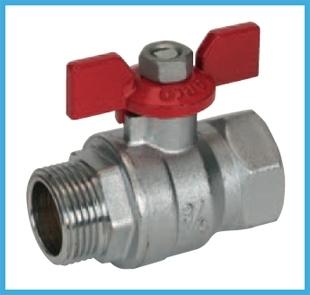 """Rutulinis ventilis trumpa rankena i/v d15 (1/2"""") TURIA Rutliniai valves, brass"""
