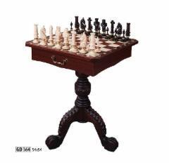 Wooden chees 54x54 with table Žaidimai, kortos