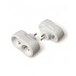 Šakotuvas dviejų vietų, su įžeminimu (2P+E), baltas, GTV AE-SC0102-00