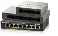 Šakotuvas Netgear 8-Port, 4xPoE 53W Gigabit Desktop Switch Metal (GS308P)