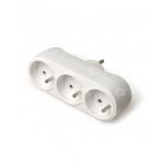 Šakotuvas trijų vietų, su įžeminimu (2P+E), baltas, GTV AE-SC0103-00 Electric fork