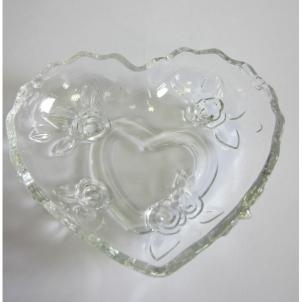 Saldaininė širdelė 16x14cm stik. 0904 Vāzes, augļu