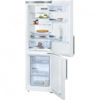 Refrigerator Bosch Refrigerator KGE36BW30 Free standing, Combi, Height 186 cm, A++, Fridge net capacity 214 L, Freezer net capacity 88 L, 38 dB, White