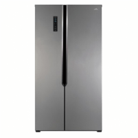 Šaldytuvas ETA Refrigerator ETA138890010 Free standing, Side by Side, Height 177 cm, A+, No Frost system, Fridge net capacity 291 L, Freezer net capacity 145 L, Display, 43 dB, Silver Šaldytuvai ir šaldikliai