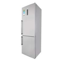 Refrigerator Gorenje Refrigerator NRK6192TX Free standing, Combi, Height 185 cm, A++, No Frost system, Fridge net capacity 222 L, Freezer net capacity 85 L, Display, 42 dB, Grey metallic