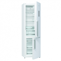 Refrigerator Gorenje Refrigerator NRK6202TW Free standing, Combi, Height 200 cm, A++, No Frost system, Fridge net capacity 254 L, Freezer net capacity 85 L, Display, 42 dB, White