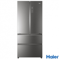 Šaldytuvas Haier HB18FGSAAA Free standing, Side By Side, Height 190 cm, A++, No Frost system, Fridge net capacity 351 L, Freezer net capacity 157 L, Display, 38 dB, Stainless steel Šaldytuvai ir šaldikliai
