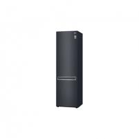 Šaldytuvas LG Refrigerator GBB72MCEFN Free standing, Combi, Height 203 cm, A+++, No Frost system, Fridge net capacity 277 L, Freezer net capacity 107 L, Display, 36 dB, Matt black steel