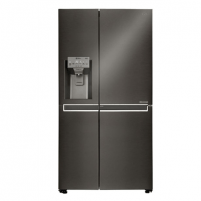 Refrigerator LG Refrigerator GSJ761MCUZ Free standing, Free standing, Height 179 cm, A++, No Frost system, Fridge net capacity 196 L, Freezer net capacity 196 L, Display, 39 dB, Black Refrigerators and freezers