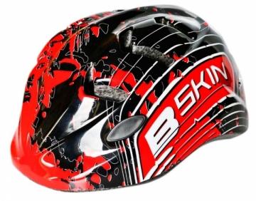 Šalmas B-Skin Kidy Pro red-black