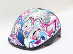Šalmas B-Skin Kidy UNICORN blue S Bicycle helmets